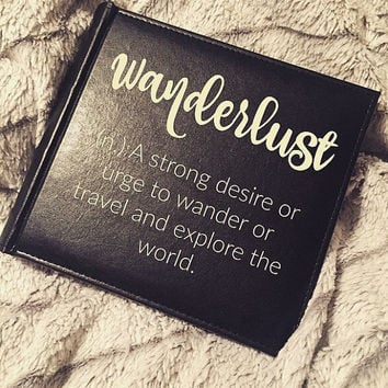 Photo Album; Wanderlust; Travel Lover; Custom Picture Book; Friendship; Birthday Gift; Wedding; Traveling; Vacation Memories; Anniversary