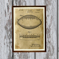 Antique home decor Sport print Football poster Patent art AKP159