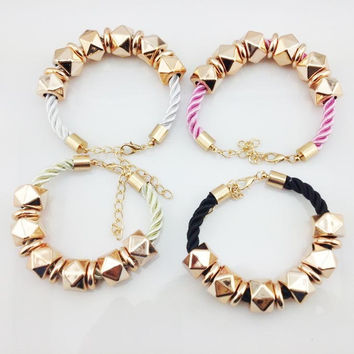 Gift Stylish New Arrival Awesome Great Deal Shiny Hot Sale Accessory Rivet Sweets Bangle Jewelry Bracelet [7271691463]