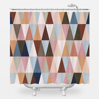 Earth Triangles Shower Curtain
