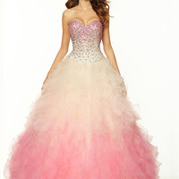 Sweetheart Beaded Tulle Ball Gown Paparazzi Prom Dress By Mori Lee 97021