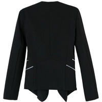 Black Slim Zipper Fall Fashion Blazer