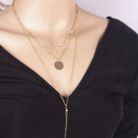 The Ava Long Layered Necklace