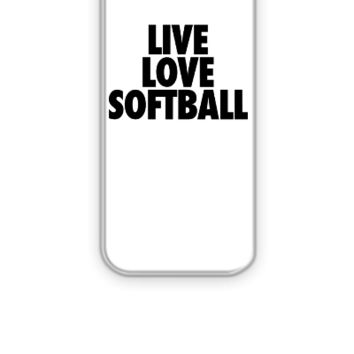 Live Love Softball - iPhone 5&5s Case