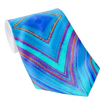 creative abstract pattern tie
