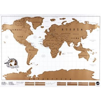 World Map Stickers Travel Scratch Off Map Personalized World Map Poster Wall Sticker Traveler Log geographic map of the world
