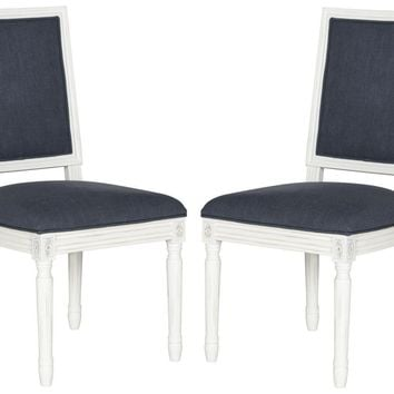 Buchanan Rect Side Chair Navy (Set of 2)