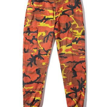 West Coast Military Camo Style Pants Hiphop Camouflage