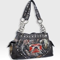 Black Camo Western Pistol Gun Redneck Fashion Purse
