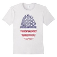 American Fingerprint Patriotic T - Shirt