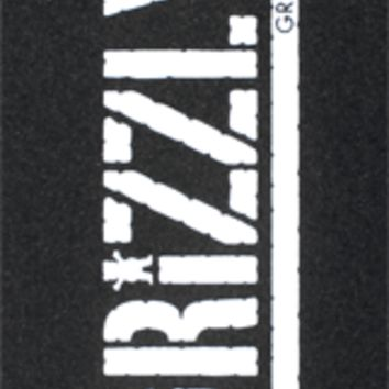 Grizzly Griptape Stamp Print Single Sheet 9x33 -blk/wht