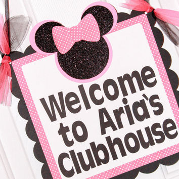 Minnie Mouse Birthday Signs / Minnie Party / Personalized / Add your childs name