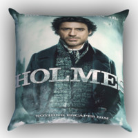 Sherlock Holmes Robert Downey JR Noyhing Escapes Him Zippered Pillows  Covers 16x16, 18x18, 20x20 Inches