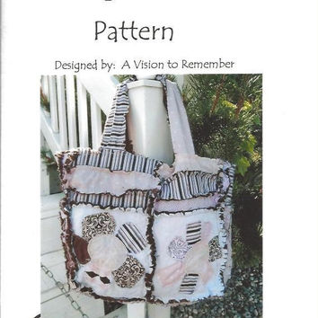 65% Off Clearance Rag Purse, Diaper Bag, Sewing Pattern, Rag Quilt, Quilted Bag, Mailed Hard Copy