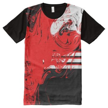 Men's All-Over Printed Panel T-Shirt