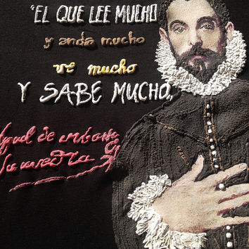 Miguel de Cervantes Painted T-shirt -  Don Quixote Camiseta Pintada