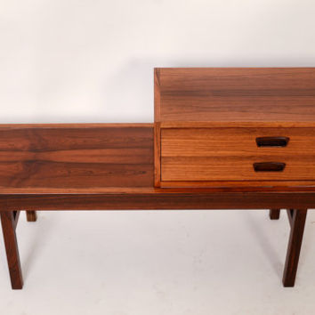 Rosewood Cocktail Table Coffee Table Rosewood Bench Danish Modern 60s