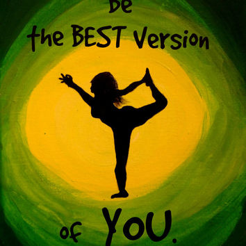 Sunrise Yoga Contemporary art, Canvas quote painting, Yoga quotes, Yoga wall decor,  Yoga warrior pose, Yoga painting
