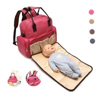 Cute Polyester Backpack Diaper Bag