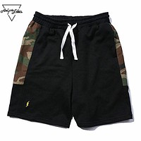 Man Camouflage Spliced Military Shorts Summer Vogue Casual Shorts for Men Jogger Fitness Cotton Short Pants