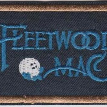 Fleetwood Mac Iron-On Patch Blue Letters Logo