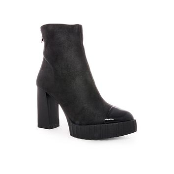 Black Whitney Platform Booties
