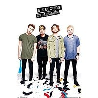 5 SECONDS OF SUMMER POSTER Amazing Group Shot RARE HOT NEW 22x34