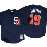 Mitchell & Ness Tony Gwynn 1996 Authentic Mesh BP Jersey San Diego Padres In Navy