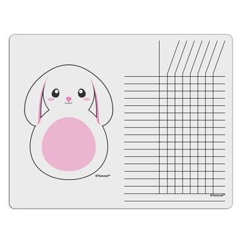 TooLoud Cute Bunny with Floppy Ears - Pink Chore List Grid Dry Erase Board