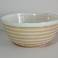 Pyrex Rainbow Stripe Nesting Mixing Bowl #403 2 1/2 Quart,Tan Rainbow Stripe, Sandalwood Brown, Tan Brown, Light Brown, Taupe - Nude