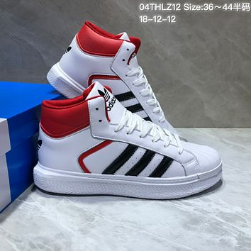 KUYOU A382 Adidas High Casual Sports Sneaker White Red