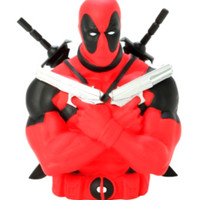 Marvel Universe Deadpool Bust Coin Bank