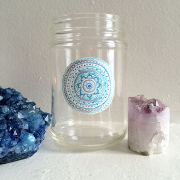Moon and Sun Mandala Mason Jar: Live by the Sun, Love by the Moon