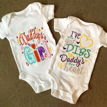 Daddys Girl OR I've Got adibs On Daddy's Heart shirt or Onesuit