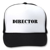 THE OFFICIAL HOLLYWOOD DIRECTOR'S CAP HAT from Zazzle.com