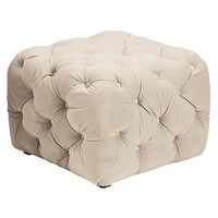 Tufted Ottoman | Glamorous Jules Tufted Ottoman | Z Gallerie