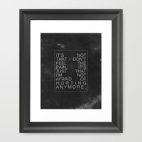 Last Hope / Paramore Framed Art Print by Justified