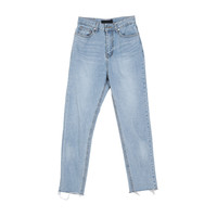 Tapered Crop Hem Jeans