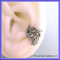 ArtNouveau ear cuff wrap in antiqued silver for by RingRingRing