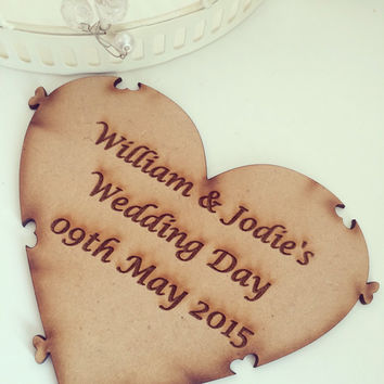 Wooden Puzzle Guestbook, Jigsaw Guestbook, Custom Book, Alternative Wedding Guest Book