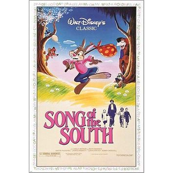 DISNEY song of the SOUTH vintage movie poster ANIMALS KIDS 24X36 family