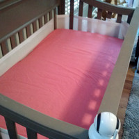 Barbie Pink Crib Sheet fitted