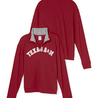 Texas A&M University Boyfriend Half-Zip - PINK - Victoria's Secret
