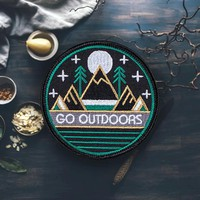 'Go Outdoors' Hiking Patch