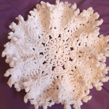 Christmas Snowflake Cluster Dishcloth Crochet Pattern