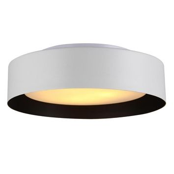 Lynch White & Black Flush Mount Ceiling Light