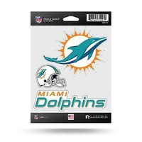 NFL Miami Dolphins Decal/Stickers Set of 3 Decals Stickers