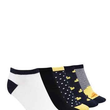 Duck Print Ankle Sock Set