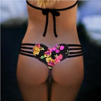 11 color Women New Sexy Brazilian Bikini Heart Shape Bikini Bottom Heart Cut Bikini Bandage Swimwear Cut Out Bathing Suit
