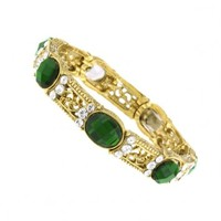 Enjoli Emerald Green Crystal Stretch Bracelet